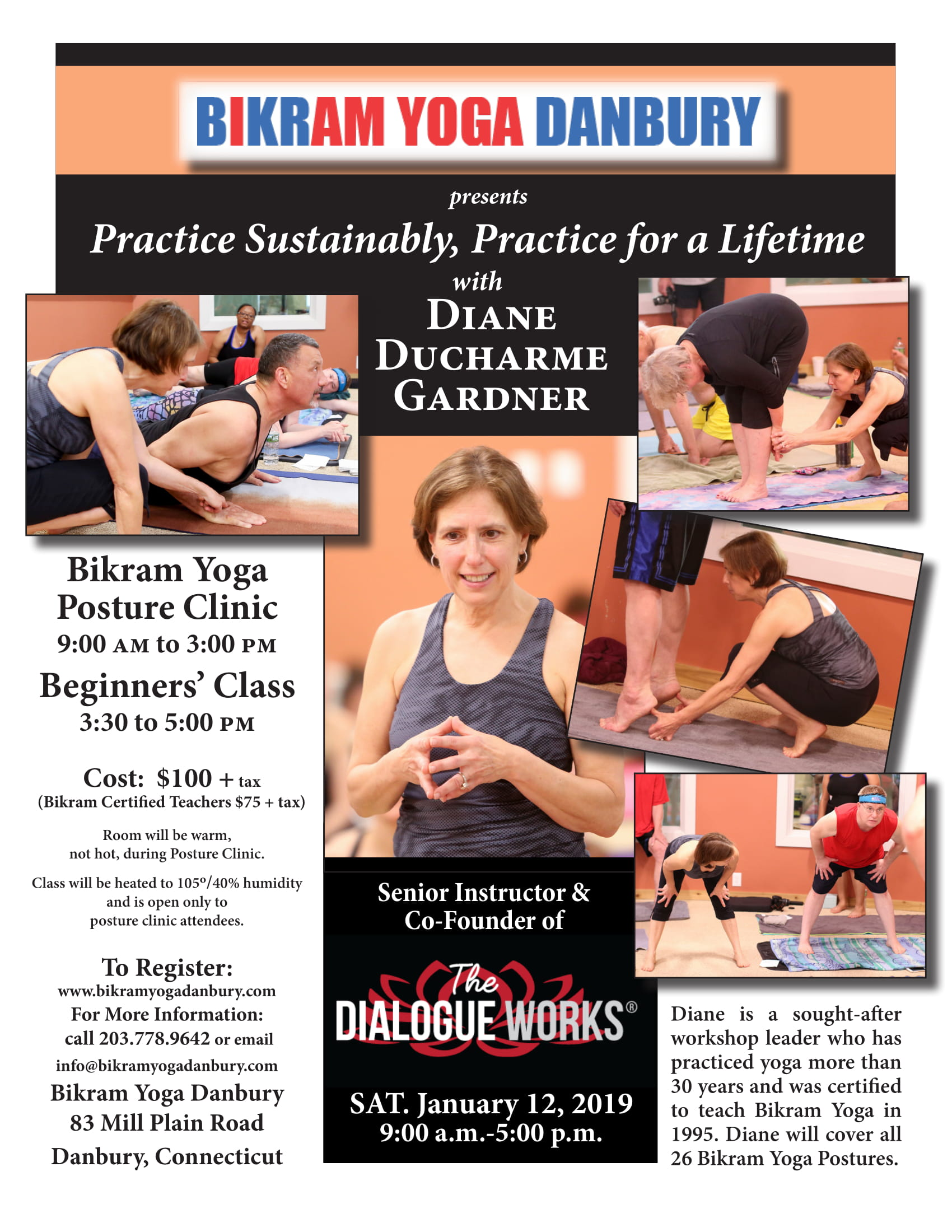 Pratice sustainably, Practice for a lifetime with Diane Ducharme Gardner – January 12, 2019